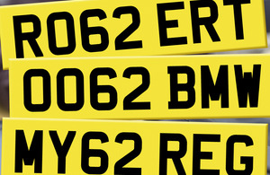 Personalised number plate image