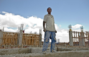 Building tomorrow in Addis Ababa. Picture: Simon Davis/DFID