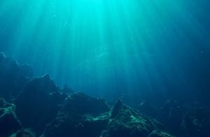 Underwater ocean image showing seabed
