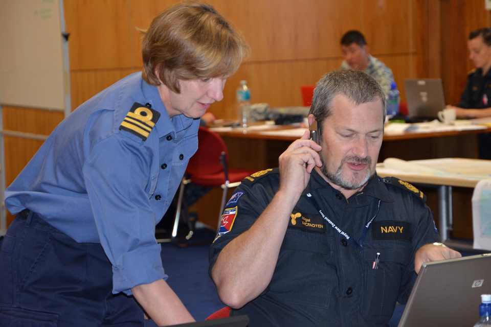 Lieutenant Commander Sue Roll with Chief Petty Officer Nigel McFadyen