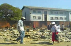 Scenes after forced urban slum clearance in Zimbabwe