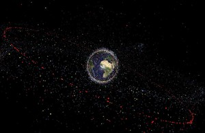 Distribution of space debris