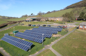 Recently installed solar farm at Sennybridge Training Area [Picture: Crown copyright]