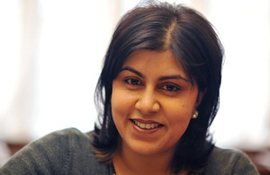 The Rt Hon Baroness Warsi, Senior Minister of State at the UK Foreign & Commonwealth Office