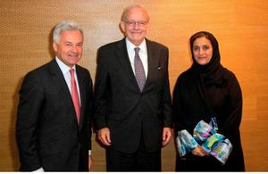 UK International Development Minister Alan Duncan and Her Excellency Sheikha Lubna Al Qasimi, UAE's new Minister for International Co-operation and Development.