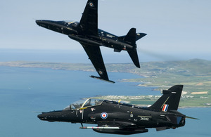 Hawk T2 jets pictured during a flight over North Wales (library image) [Picture: Corporal Paul Oldfield RAF, Crown copyright]