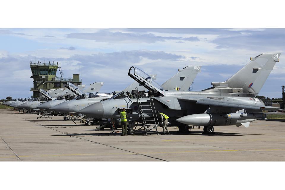 12 (Bomber) Squadron Tornado GR4s