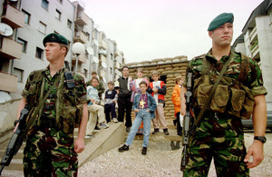 UK troops have helped to promote peace as part of KFOR since 1999