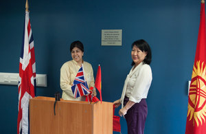 Baroness Warsi, together with Kyrgz Deputy Speaker Ms Asiya Sasykbaeva