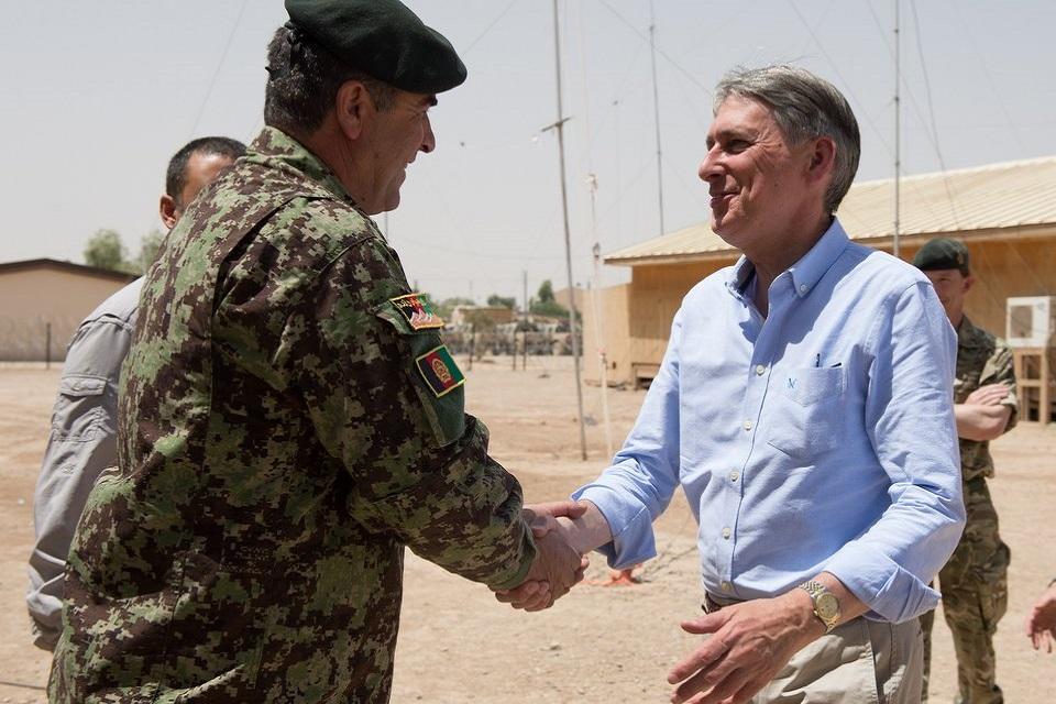 Philip Hammond meets Afghan Brigadier General Sherin Shah