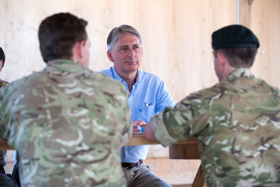 Philip Hammond meets with troops in Afghanistan
