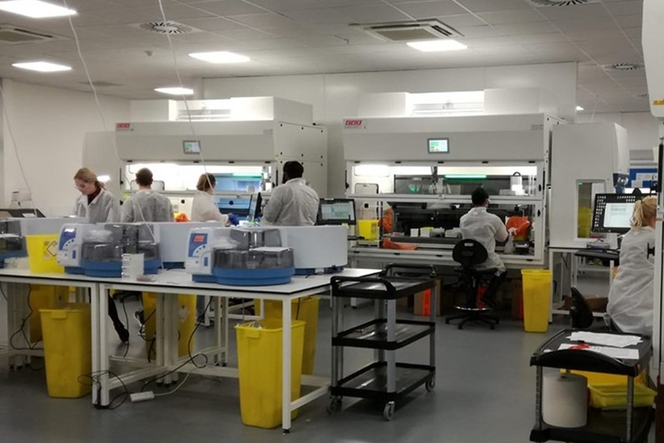 A group of scientists working in a laboratory.