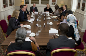 David Cameron hosts international transparency champions at Downing St