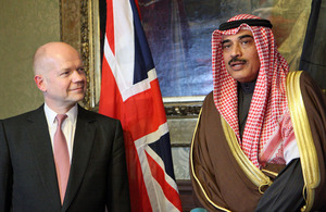 Foreign Secretary and Kuwaiti Foreign Minister