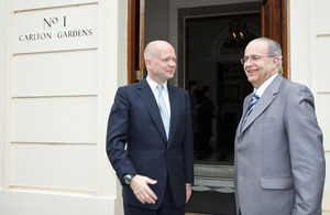 The Foreign Secretary William Hague and Cypriot Foreign Minister Ioannis Kasoulides