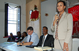 Deputy Governor the Hon Anya Williams (standing)