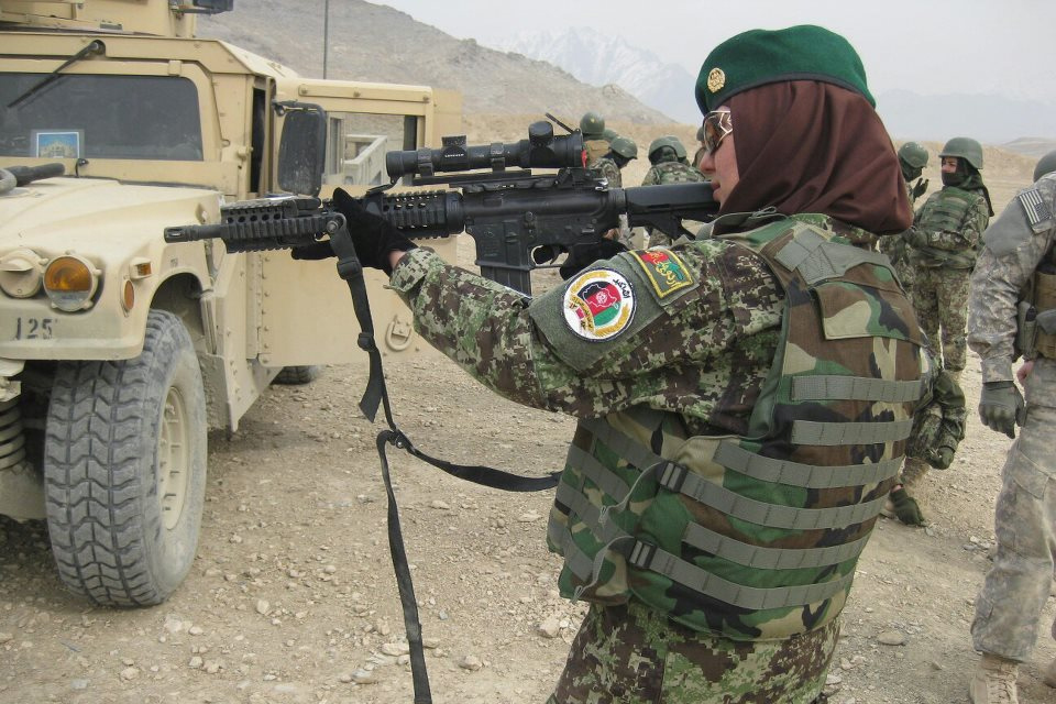 A female Afghan National Army officer