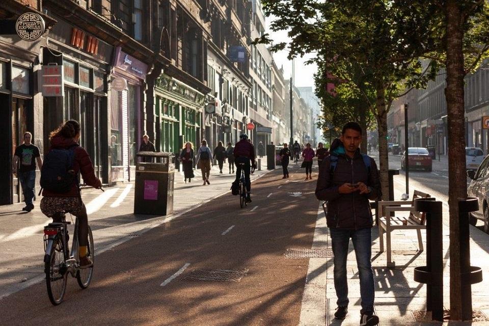 Glasgow's redeveloped Sauchiehall Street