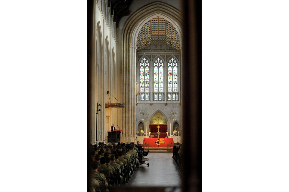 The service of thanksgiving in Bury St Edmunds Cathedral