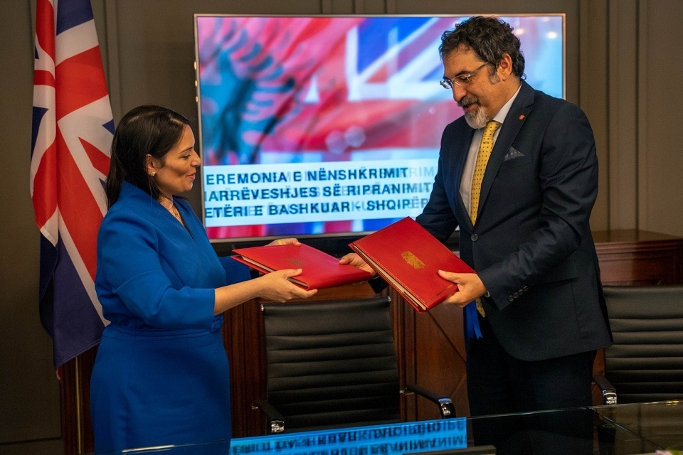 Image News story: Priti Patel signs historic removals agreement with Albania