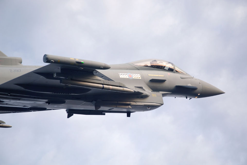 Typhoon with Meteor missiles attached