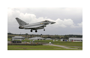 An RAF Typhoon aircraft