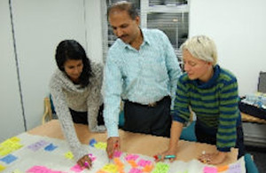Shamprasad Pujar, Deputy Librarian at IGIDR in Mumbai working with IDS staff
