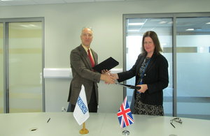 Her Majesty's Ambassador Judith Farnworth and OSCE Ambassador Sergei Kapinos