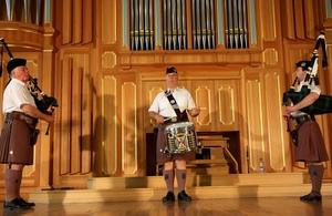 The London Scottish Regiment Band at the State Conservatory of Uzbekistan