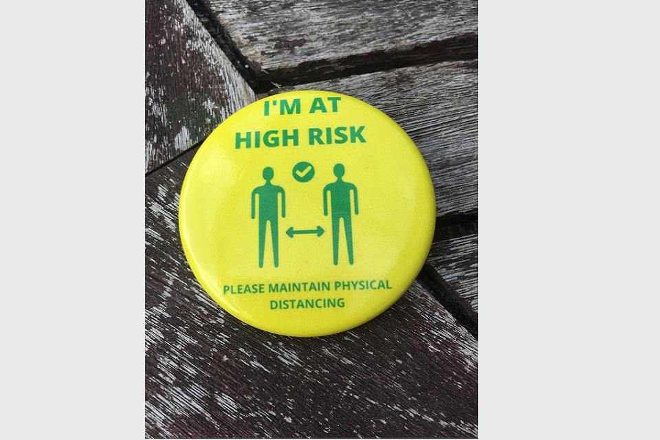 COVID-19 High Risk Badge