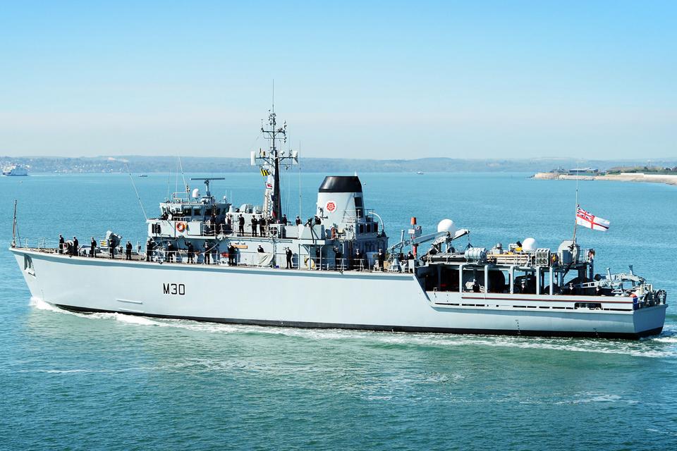 HMS Ledbury (library image)