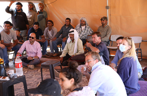 Heads of Mission and representatives of West Bank Protection Consortium member states and likeminded countries visit Humsa Al Bqai'a and Ras Al Tin