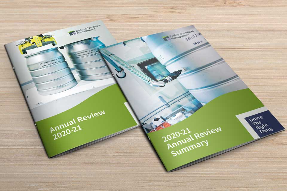 Annual Review 2020-21 and Annual Review 2020-21 Summary on a desk