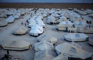 Za'atari refugee camp, Jordan. Photo: UNHCR/Sokol