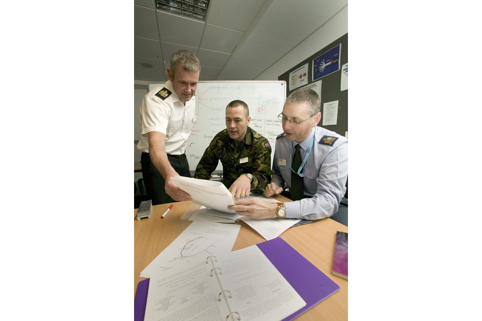 Tri-Service personnel training together (stock image)