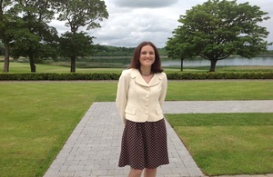 Theresa Villiers at Lough Erne