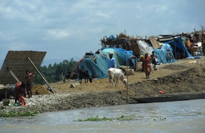 Displaced persons staying in temporary camps in Morigaon district, Assam. Picture: Oxfam International