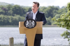 Prime Minister David Cameron speaking at the G8 summit press conference. Picture: Crown copyright