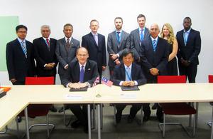 UK and Malaysia delegation