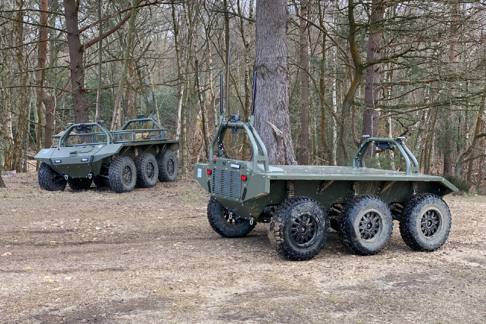 2 Viking uncrewed ground vehicles in a forest