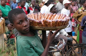 A young street trader in Dar Es Salaam, Tanzania. Picture: James Hole/DFID