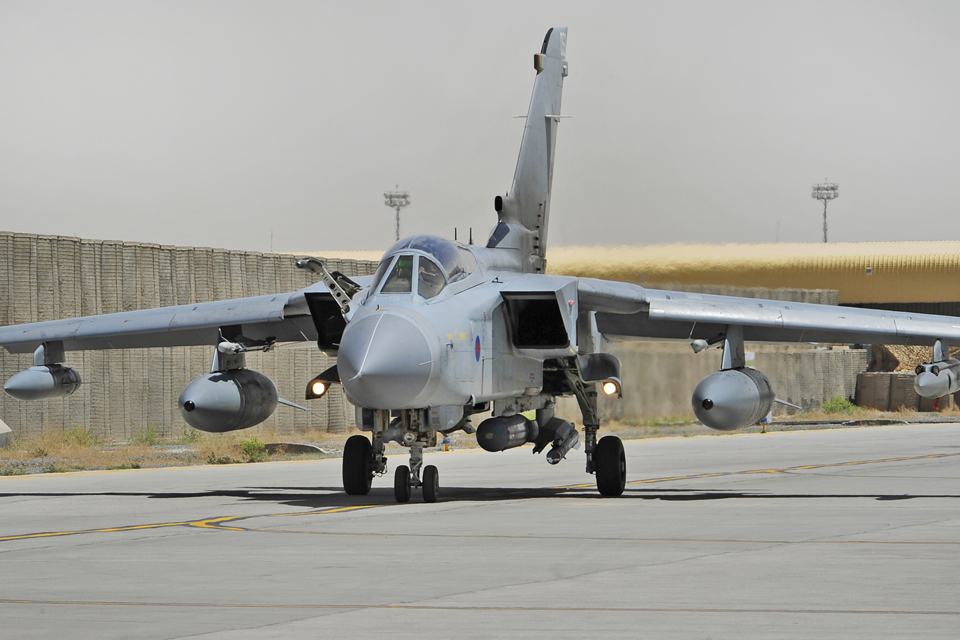 A Tornado GR4 prepares for take off