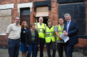 Don Foster visits an empty homes refurbishment project in Stoke on Trent