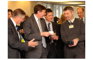 Philip Dunne is shown a compact heat-sensing video camera