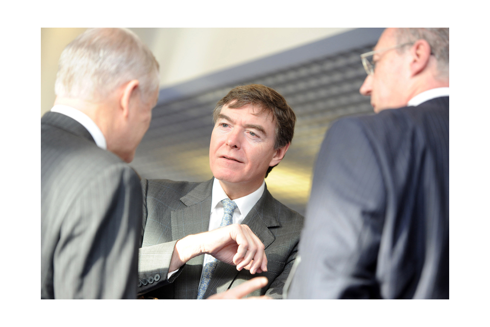 Philip Dunne chats with delegates