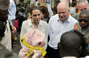 Foreign Secretary William Hague and UNHCR Special Envoy Angelina Jolie visit Lac vert camp, March 2013. Picture Crown Copyright/MOD/LA(Phot) Iggy Roberts