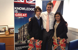 Federico Panizza and Cecilia Panizza with Ambassador Ben Lyster-Binns