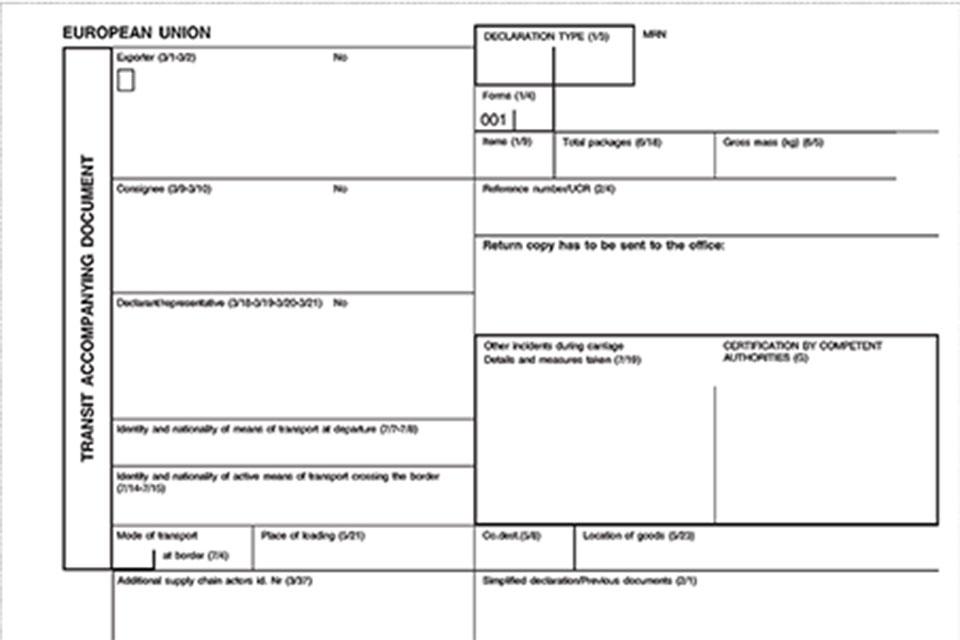 Transit Accompanying Document (TAD ).
