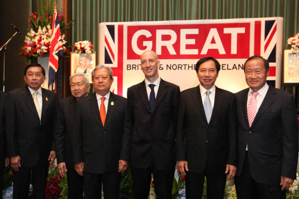 British Ambassador Mark Kent with the quests of honour