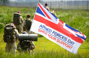 Soldiers of 47 Air Despatch Squadron Royal Logistic Corps show their support for Armed Forces Day [Picture: Paul Crouch, Crown copyright]